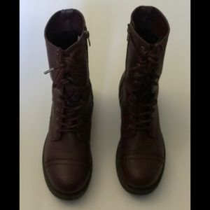 Brash by Payless - Burgundy Combat Boots 8.5